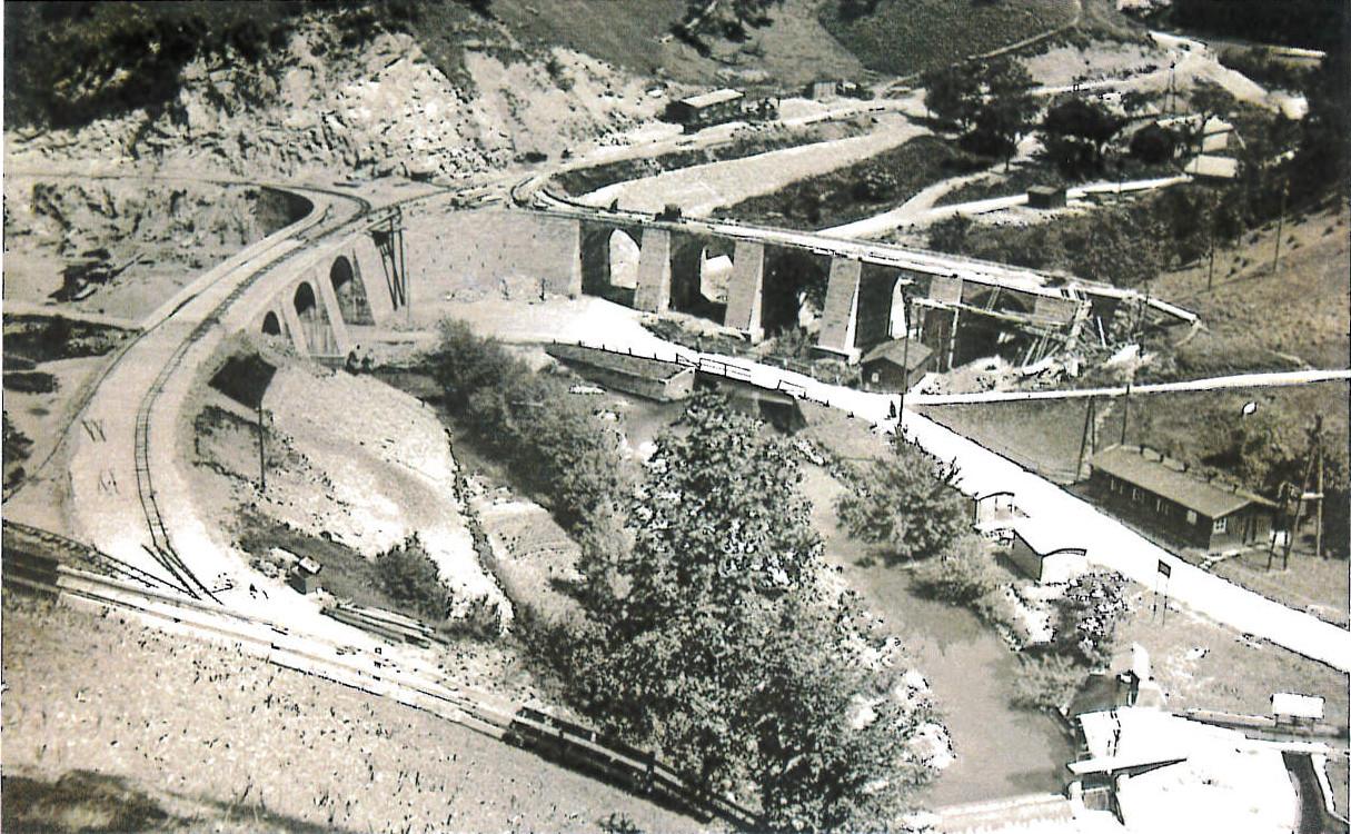 Geschichte 1935 Rundbrücke zw Neustiftgraben und Pechgragen